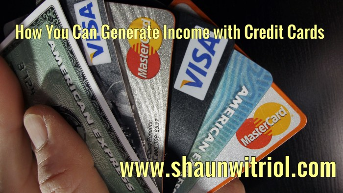 How You Can Generate Income with Credit Cards