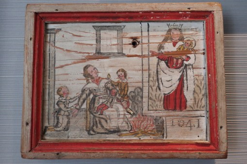 ancient ex voto on wood