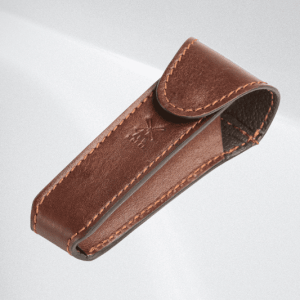 MÜHLE leather pouch for traveling, brown