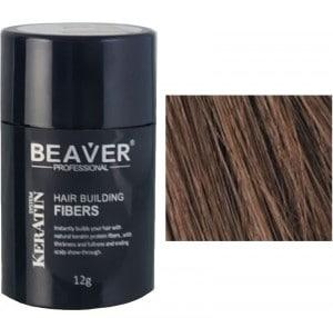 BEAVER Hair building fibers - Medium Brown 12g