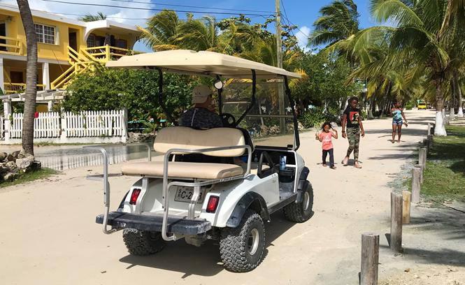 San Pedro Belize Golf cart