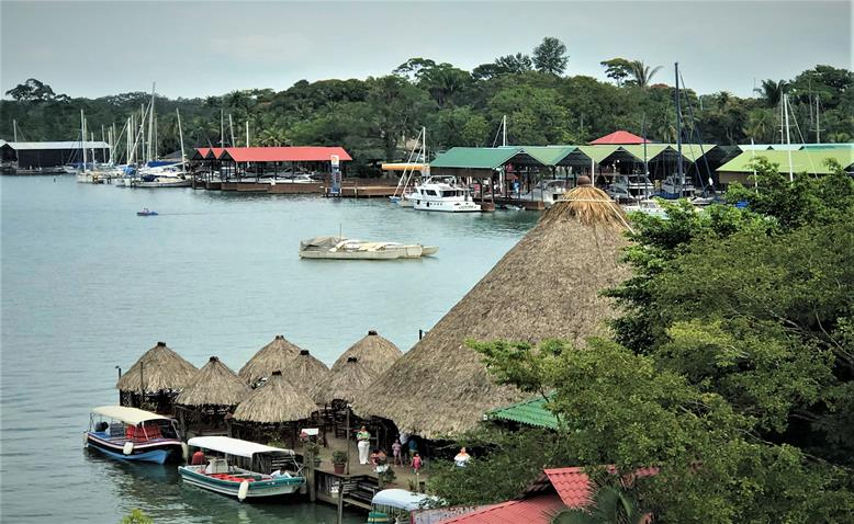 View of Rio Dulce from the bridge