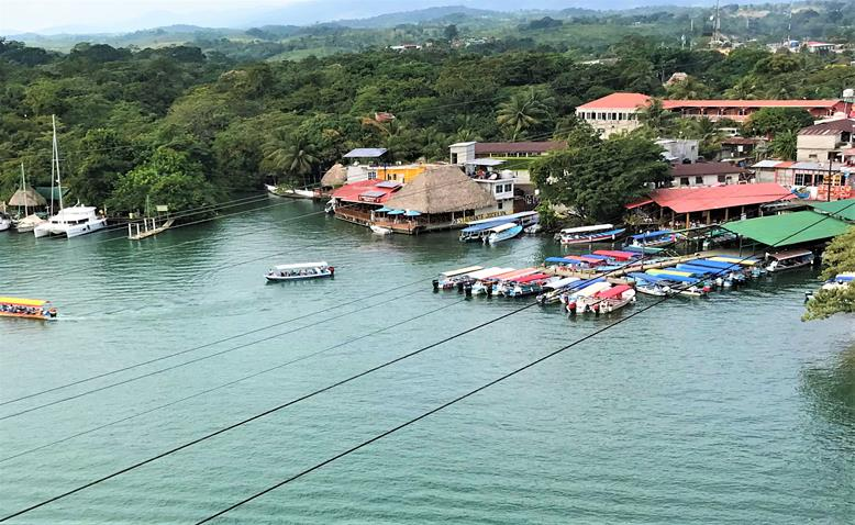 View from the bridge of Rio Dulce