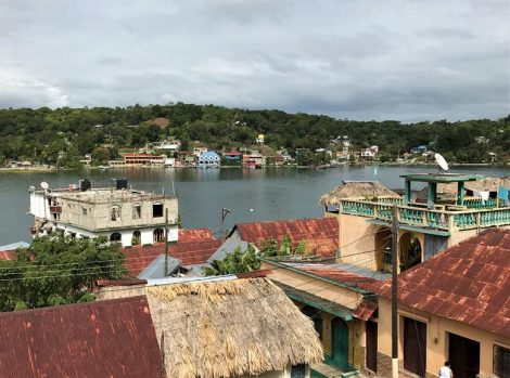 The lake view and the roof of the houses in Flores