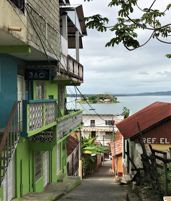 Strolling in historic town of Flores