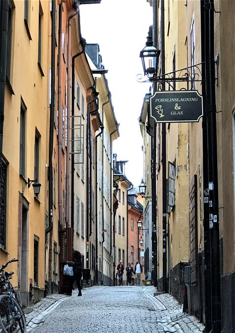Leisurely wander through narrow streets in the old town