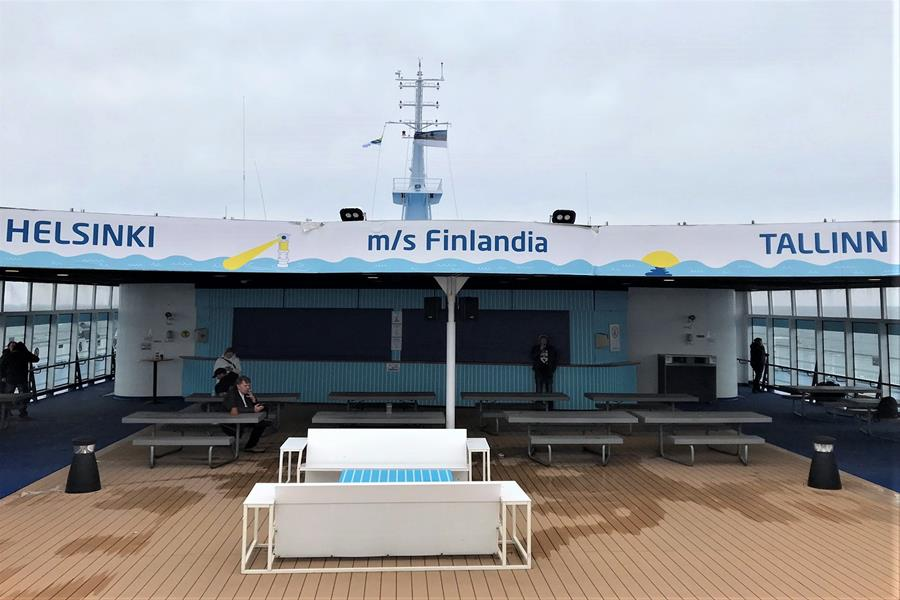 Ferry crossing between Helsinki and Tallinn