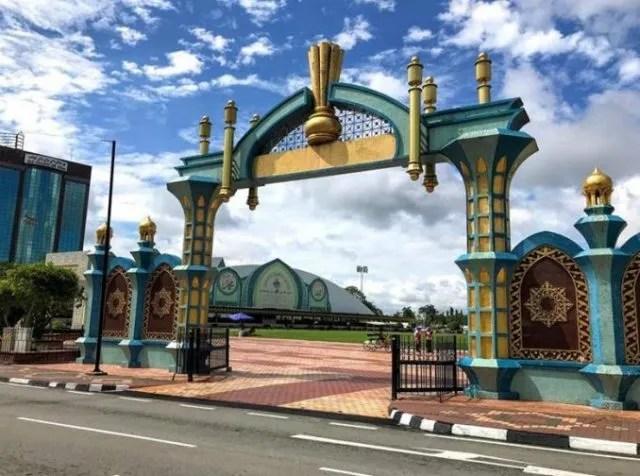 An unusual gate in the city center - Bandar Seri Begawan, Brunei