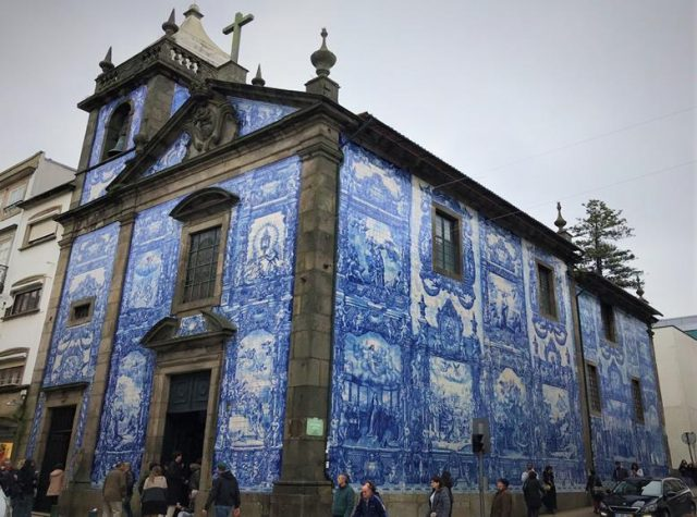 Capela das Almas covered with azulejos on exterior