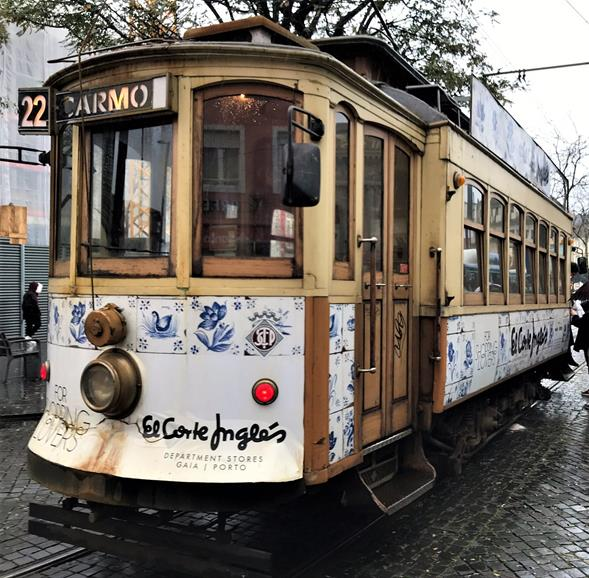 The historic tram of Porto