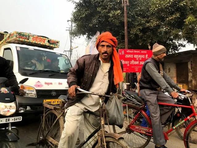 The street scene in India