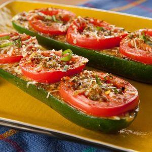 Bruschetta Zucchini Boats