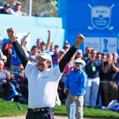 Carlos Franco celebrates win 2016