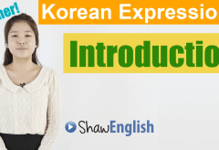 Korean Expressions Introduction