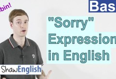 "How to Express ""Sorry"" in English"