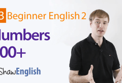 English Numbers 100+