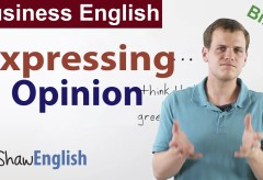 Business English: Expressing Opinion
