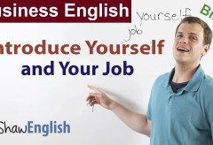 Business English: Introduce Yourself and Your Job