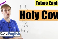 English Bad Words: Holy Cow / Smoke / Shit / Fuck