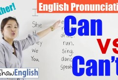 Can / Can't Pronunciation