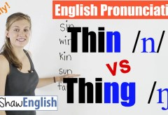 Thin /n/ vs Thing /ŋ/ English Pronunciation