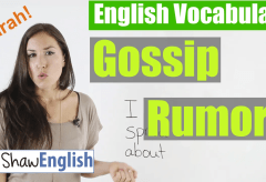 Gossip and Rumors English Vocabulary
