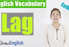 Using 'Lag' in English