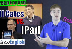 Screen English: Bill Gates vs iPad