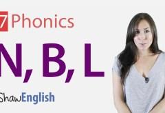 Consonants 'n', 'b' and 'l'
