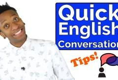 Quick English Conversation: Meeting a Black English Teacher