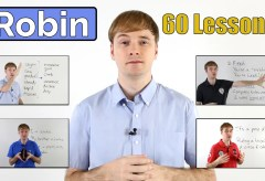 Learn English with Robin | 60 easy English Lessons for Beginners