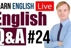 English Q&A #24