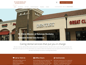 Natomas Dentistry Dr. Glenn Misono Website - After Image