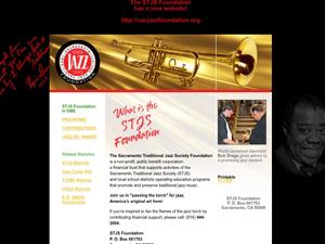 Sacramento Traditional Jazz Society Foundation Website - Before Image