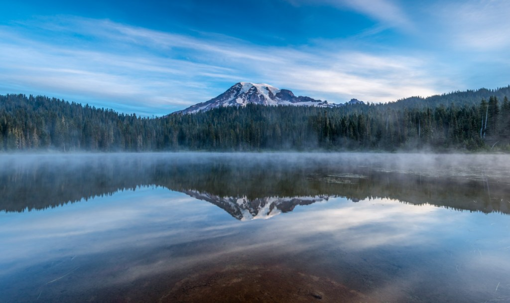 Mount Rainier over Reflection Lake