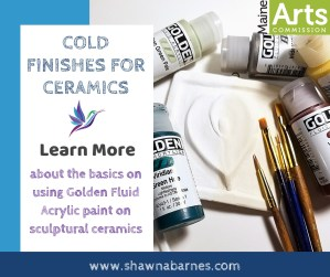 Ceramic Cold Finish - Golden Fluid Acrylic Paint