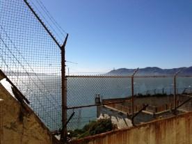 From the Alcatraz recreation yard