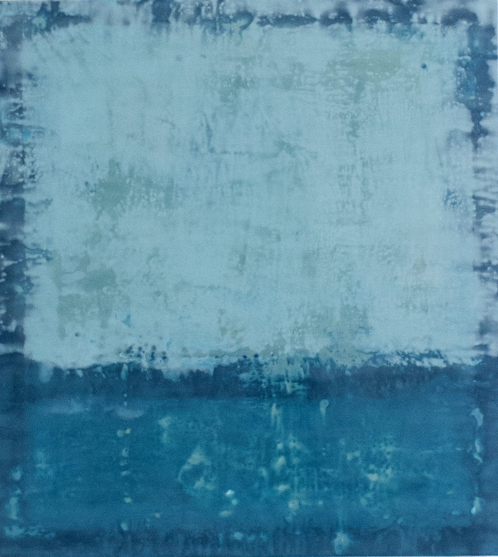 "Blurred Boundaries - 40"" x 36"" Encaustic on wood panel"