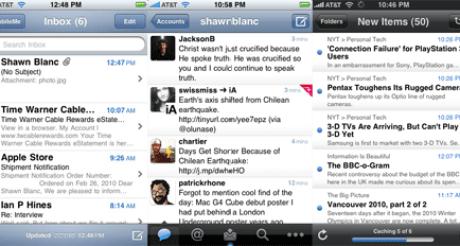 Mail vs Tweetie vs Byline in regards to fradients