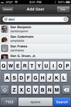 Tweetbot Twitter users lookup pane