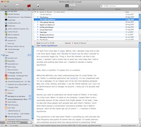 NetNewsWire 3.1 Screenshot