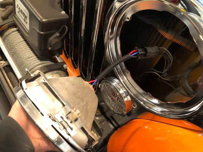 Jeep CJ-7 headlight and parking light installation