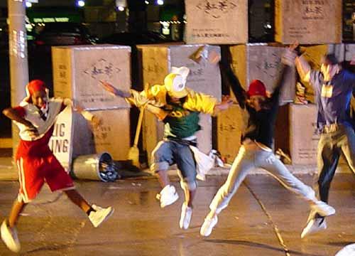 Kids loving dance