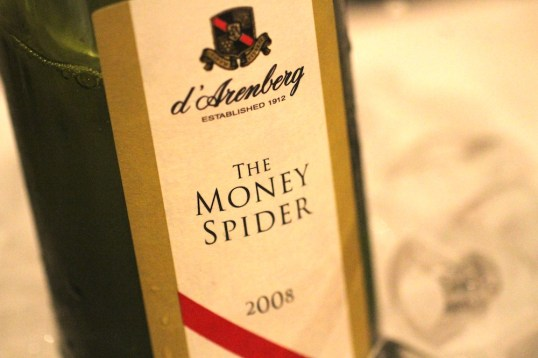 The Money Spider wine bottle image