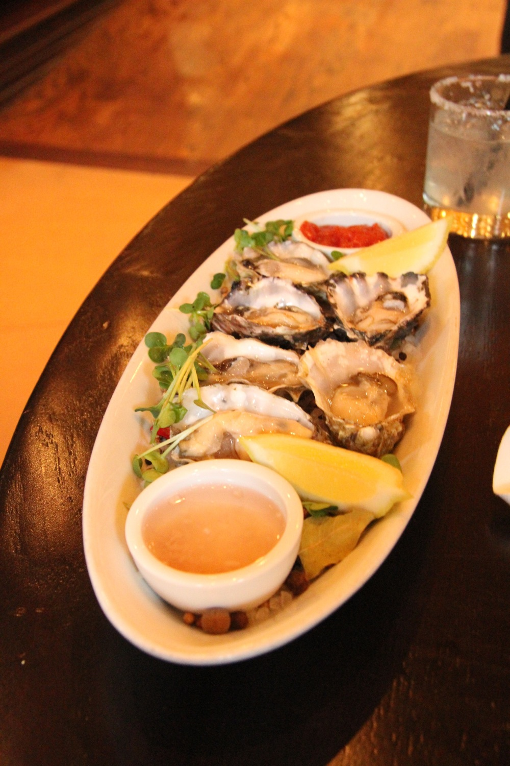Oysters at the Sazerac in the Hotel Monaco, Seattle. Robyn Hanson photo