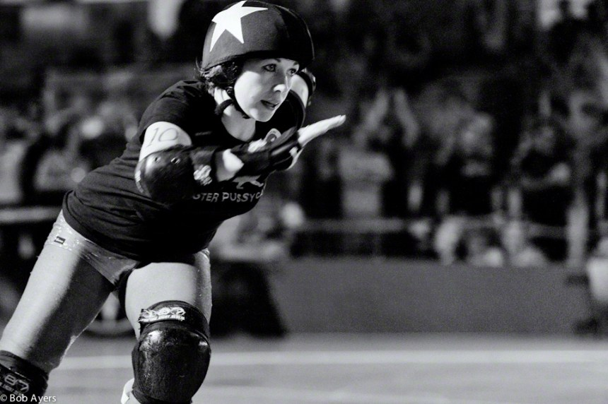 Andi Struction of Terminal City Rollgergirls' Faster Pussycats.