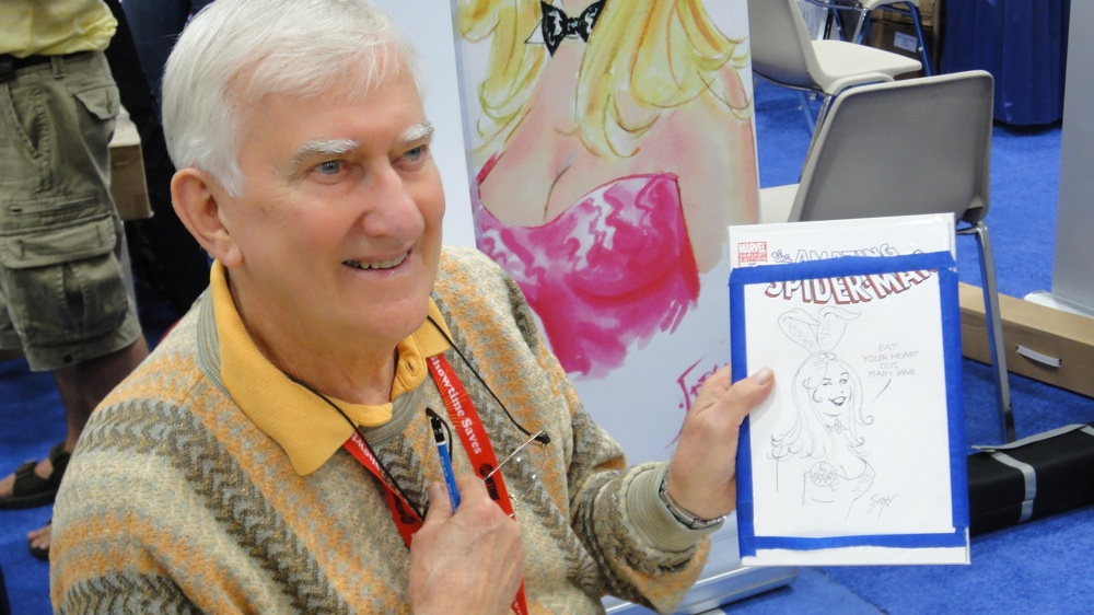Playboy artist Doug Sneyd at preview night at the 2011 San Diego Comic-Con