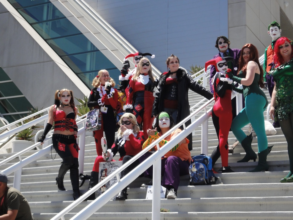 Harley Quinns cosplay flashmob at San Diego Comic-Con 2011.