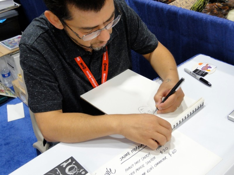 Love and Rockets cartoonist Jaime Hernandez at the 2011 San Diego Comic-Con