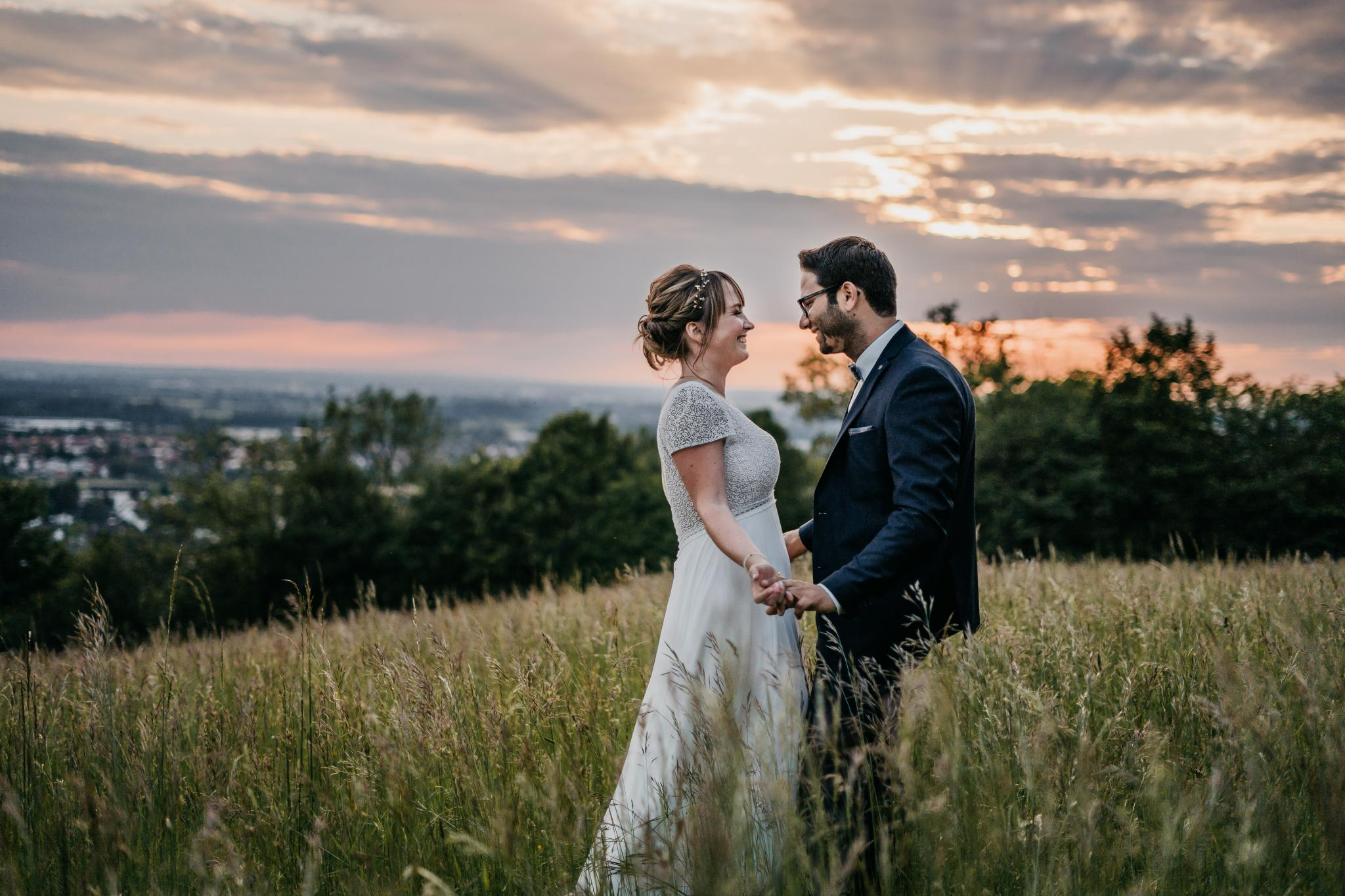 Hochzeit auf Schloss Heiligenberg Sunset Shoot
